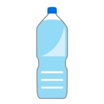ペットボトルに入った水の画像